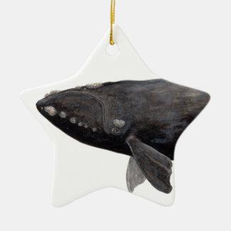 Baleine franche d'Atlantique Ornement Étoile En Céramique