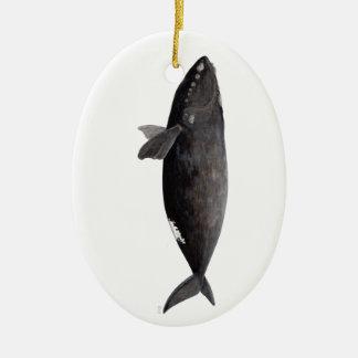 Baleine franche d'Atlantique Ornement Ovale En Céramique