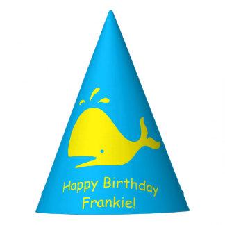 Baleine jaune 4Frankie (nom) de turquoise Chapeaux De Fètes