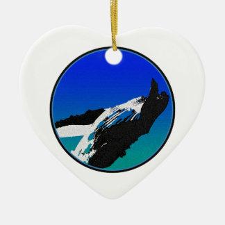 Baleine Ornement Cœur En Céramique