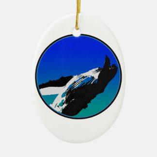 Baleine Ornement Ovale En Céramique