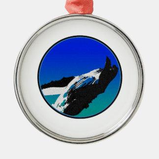 Baleine Ornement Rond Argenté