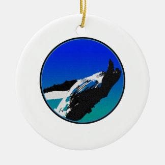 Baleine Ornement Rond En Céramique