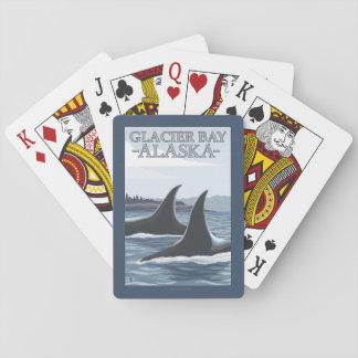 Baleines #1 - baie de glacier, Alaska d'orque Cartes À Jouer