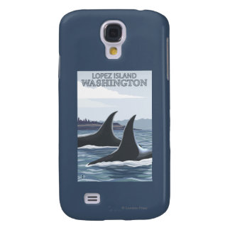 Baleines #1 - Lopez, Washington d'orque Coque Galaxy S4