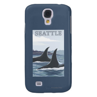 Baleines #1 - Seattle, Washington d'orque Coque Galaxy S4
