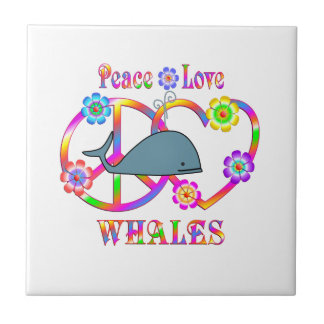 Baleines d'amour de paix petit carreau carré