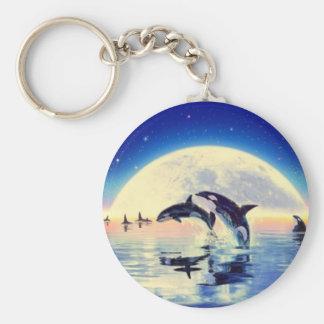 Baleines d'orque porte-clés