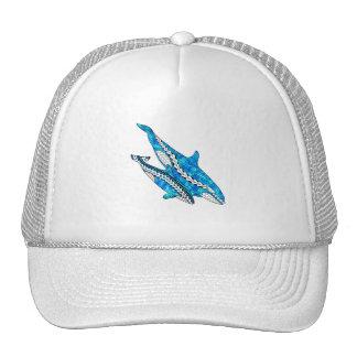 Baleines tribales d'orque casquettes de camionneur