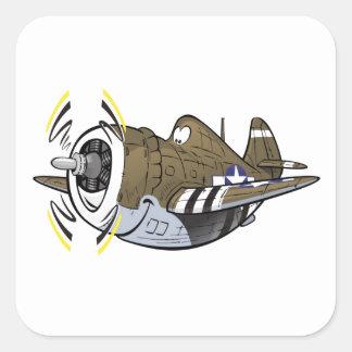 balénoptère p-47 sticker carré