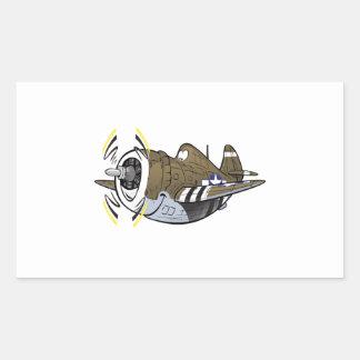 balénoptère p-47 sticker rectangulaire