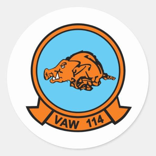 Balénoptère VAW-114 Adhésifs Ronds