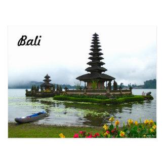 Bali, Indonésie - Pura Ulun Danu, lac Bratan Carte Postale