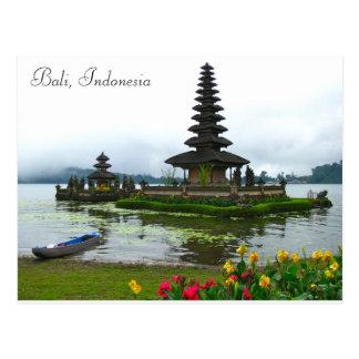 Bali, Indonésie - Pura Ulun Danu, lac Bratan Cartes Postales
