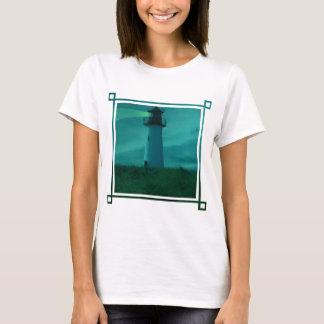 Balise de T-shirt léger de dames