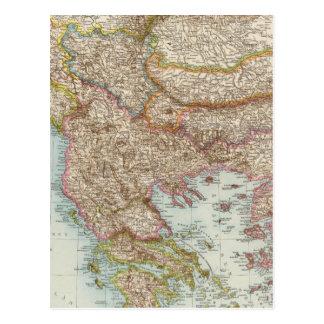 Balkanhalbinsel - carte de péninsule balkanique