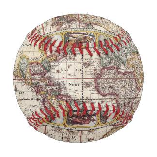 Balle De Baseball 1652 carte du monde, carte du monde d'atlas de mer