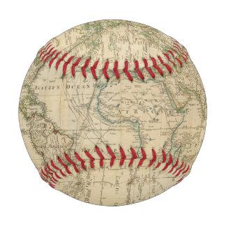 Balle De Baseball Carte couleur de main du monde