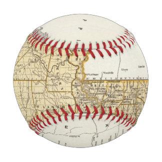 Balle De Baseball Carte d'atlas de la Louisiane