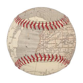 Balle De Baseball Carte d'atlas du Michigan