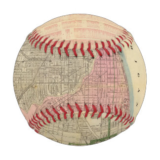 Balle De Baseball Carte du guide de Blanchard de Chicago