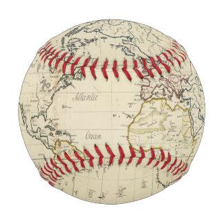 Balle De Baseball Carte du monde