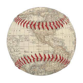 Balle De Baseball Carte du monde 2 2