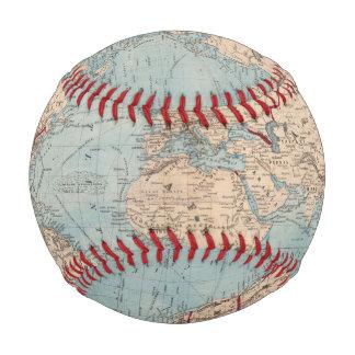 Balle De Baseball Carte du monde sur la projection de Mercator