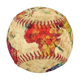 Balle De Baseball Carte vintage du monde