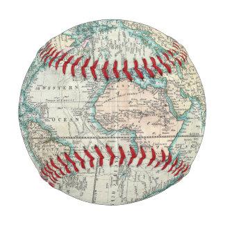 Balle De Baseball Carte vintage du monde (1801)