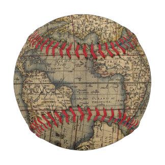 Balle De Baseball Conception historique du monde d'atlas vintage de