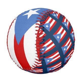 Balle De Baseball Drapeau de Porto Rico