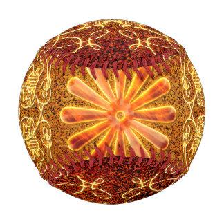 Balle De Baseball Éléments floraux décoratifs en jaune