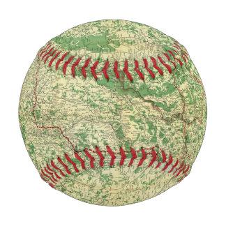 Balle De Baseball Front occidental de carte