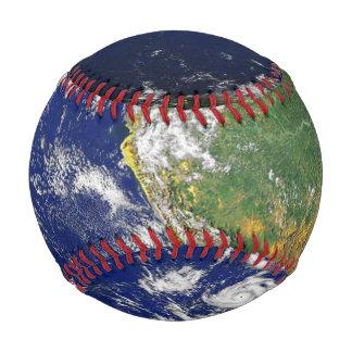 Balle De Baseball Globe de vert bleu de continents et d'océans de la