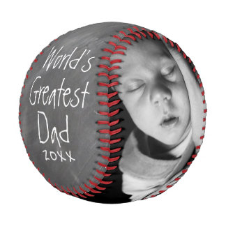 Balle De Baseball La fête des pères a personnalisé un d'une sorte