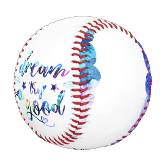 Balle De Baseball Rêve. Essai. Le faites du bien