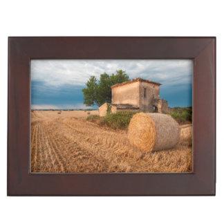 Balle de foin dans le domaine de la Provence Boîtes À Souvenirs