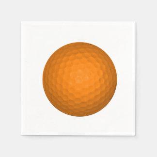 Balle de golf orange serviettes jetables