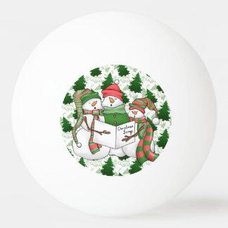 Balle De Ping Pong 3 Carolers de bonhomme de neige