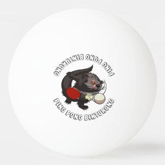 Balle De Ping Pong Bearcat de joueur de ping-pong de Binturong de