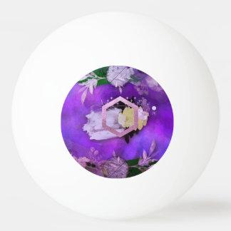 Balle De Ping Pong beau, ultra-violet, abstrait, collage, argent, f