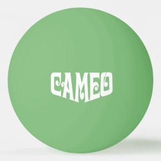 Balle De Ping Pong Boule de ping-pong avec le logo blanc de camée