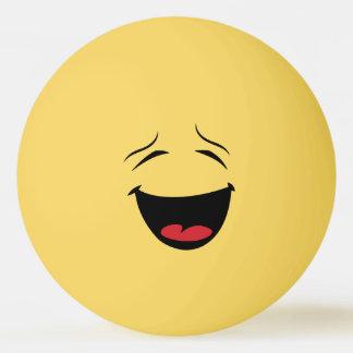 Balle De Ping Pong Boule de ping-pong souriante heureuse