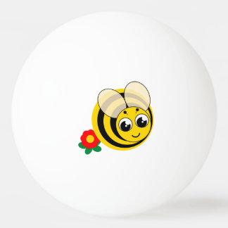 Balle De Ping Pong Bourdon rayé noir et jaune de bande dessinée