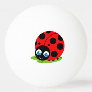 Balle De Ping Pong Coccinelle de bande dessinée mignonne