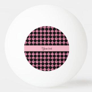Balle De Ping Pong Contrôleurs noirs et roses élégants de