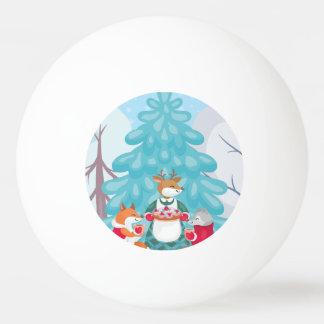 Balle De Ping Pong créatures joyeuses de neige