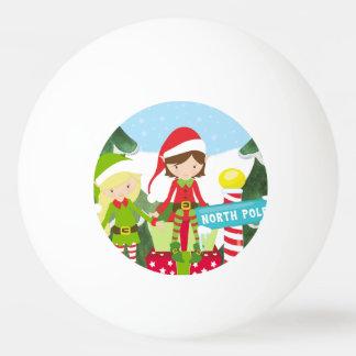 Balle De Ping Pong Deux elfes au Pôle Nord