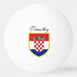 Balle De Ping Pong Drapeau de la Croatie personnalisé